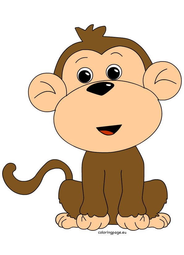 clipart image of monkey - photo #19