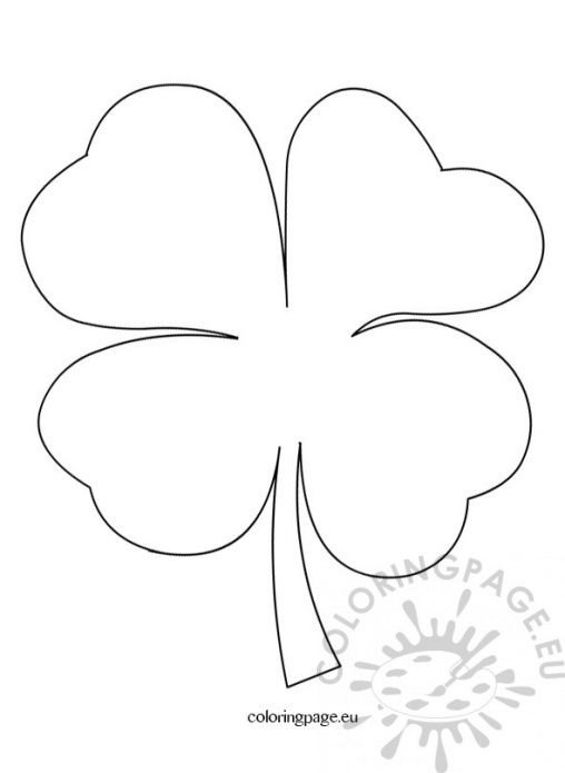 shamrock cut out template - coloring page