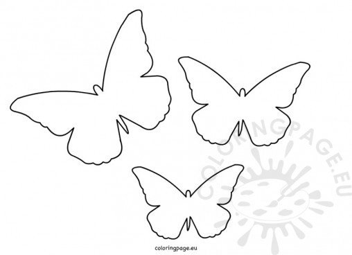 Animal coloring page for Paper butterfly templates