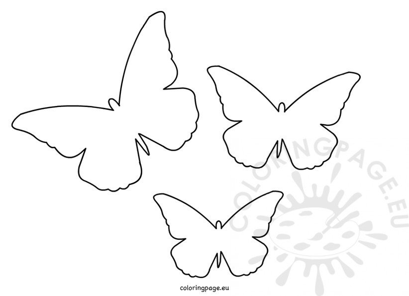 Butterfly Cut Out Template Coloring Page