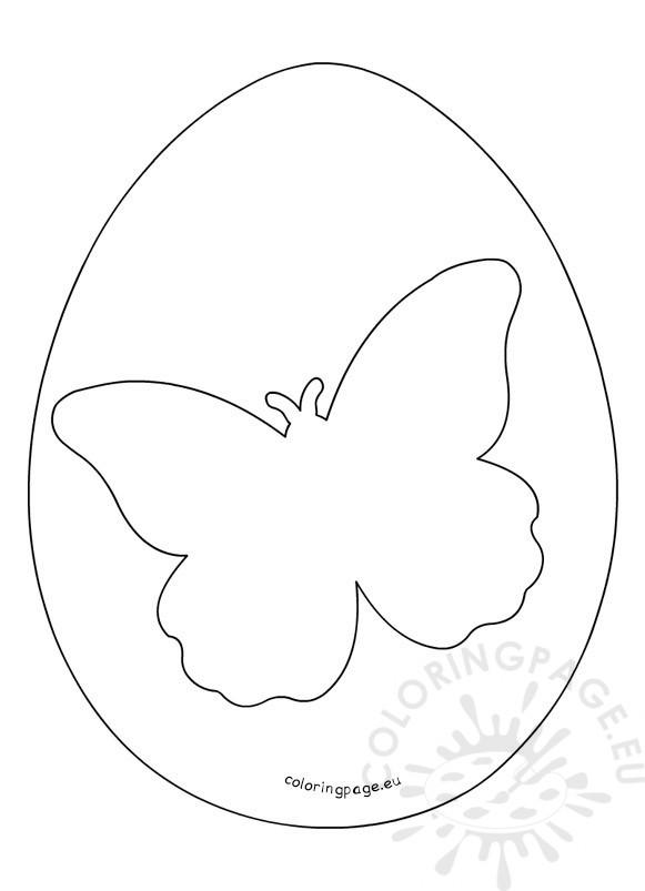 Butterfly Easter Egg printable