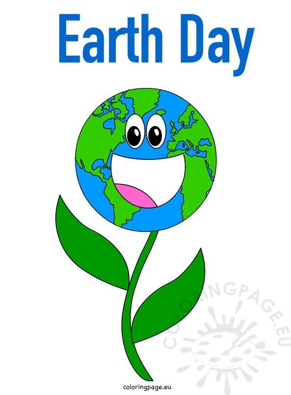 Earth Day flower for kids  Coloring Page