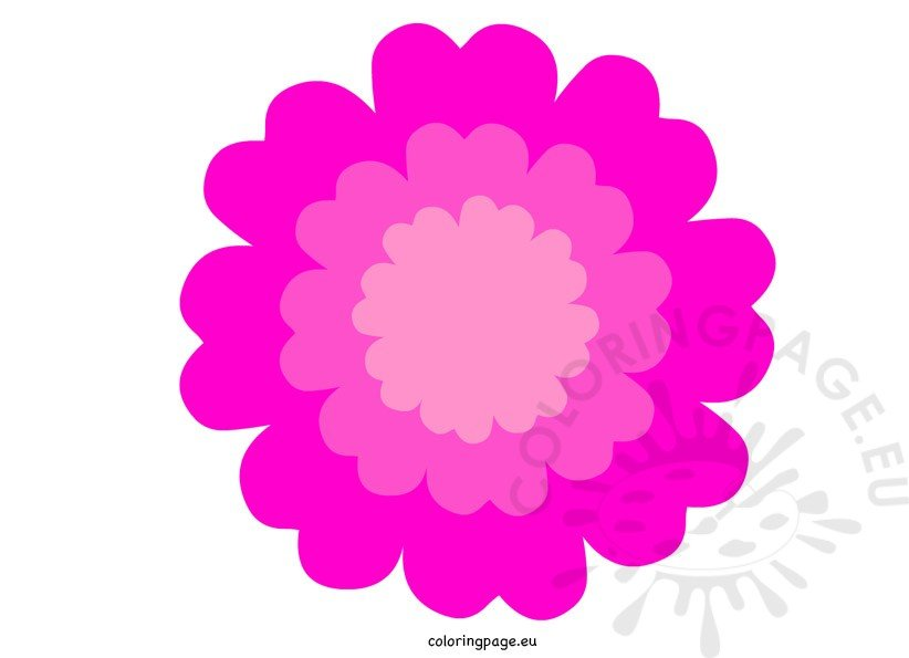 flower clip art color - photo #26