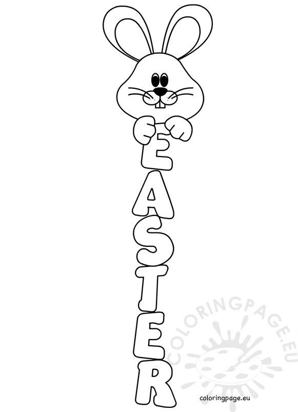 easter bunny signs coloring sheets