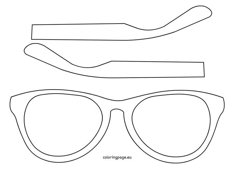 Knutsel Kleurplaat Printen Eyewear Template Printable Coloring Page