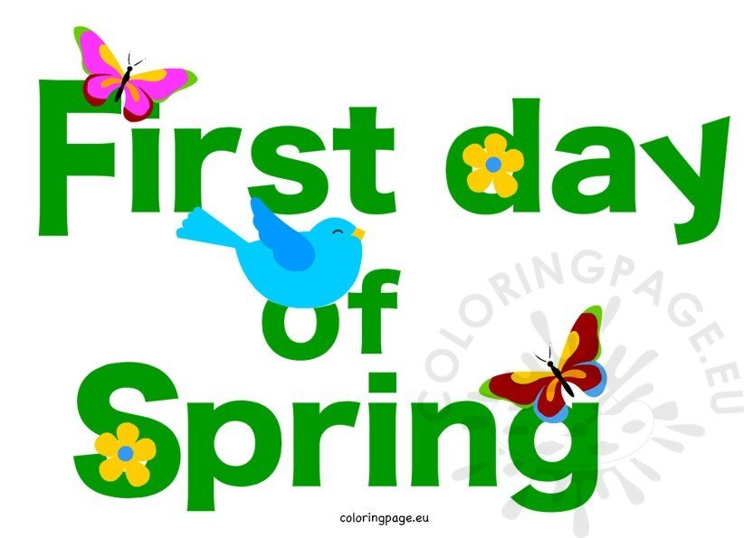 First day of spring pictures - Coloring Page