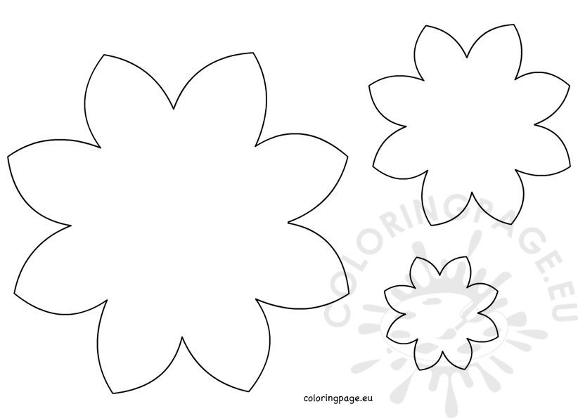 coloring pages flower petals - photo#24