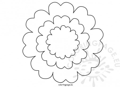 free paper flower templates - flowers coloring page