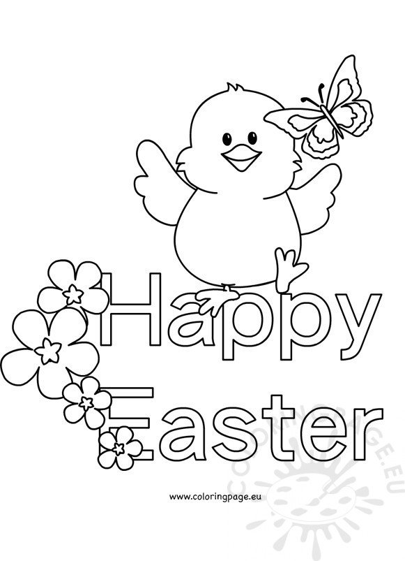 happy easter chick coloring pages - photo#23