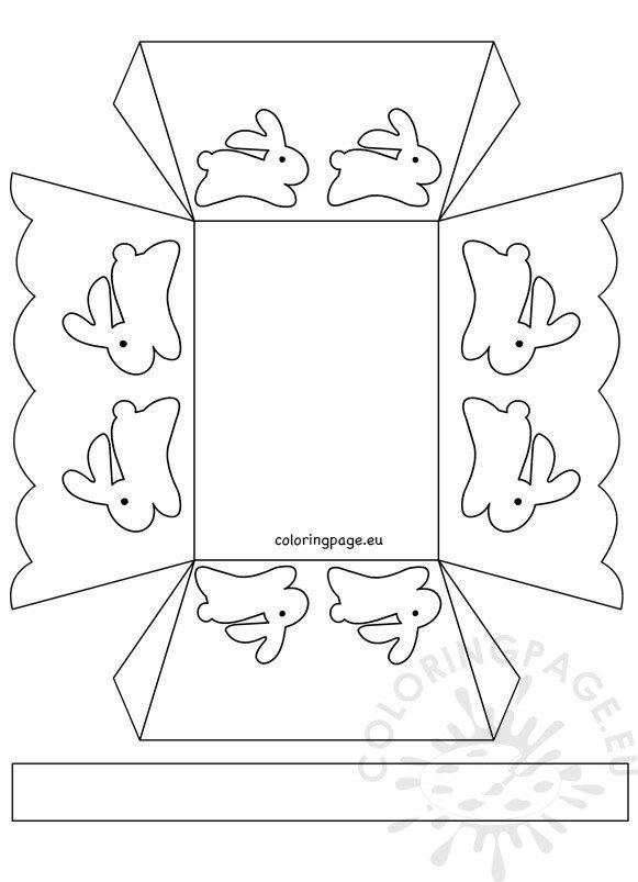 Paper Easter Basket Template 2