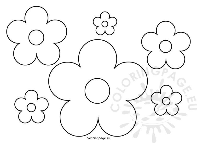 Paper flowers pattern coloring page paper flowers pattern mightylinksfo