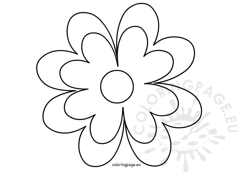 Printable Flower Template Crafts | Coloring Page