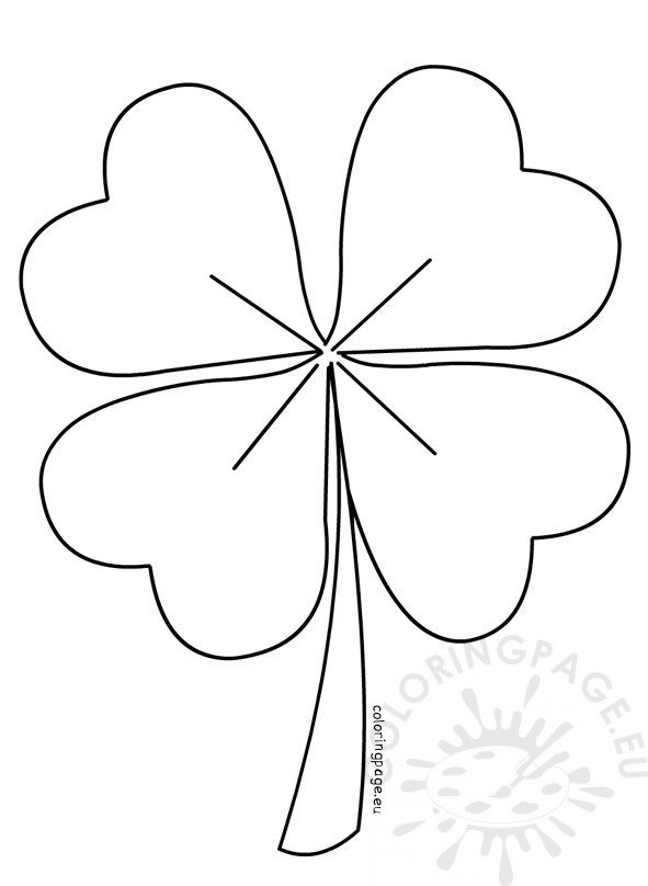 Four Leaf Clover Vector | Coloring Page