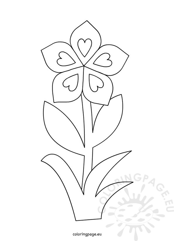 Spring flower coloring sheet