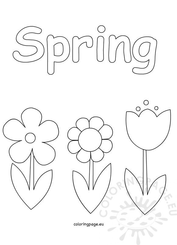 Spring Coloring Pages for Kids – Coloring Page