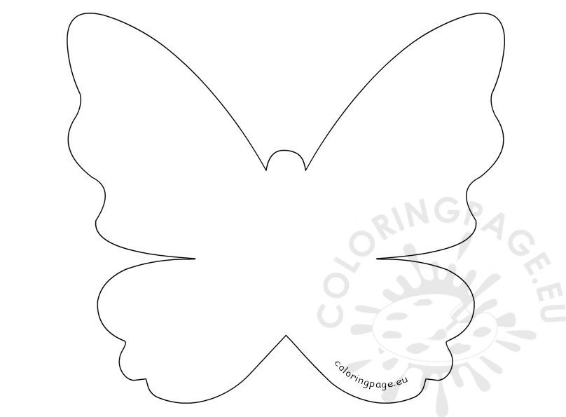 Mother'S Day Printable Butterfly Template | Coloring Page