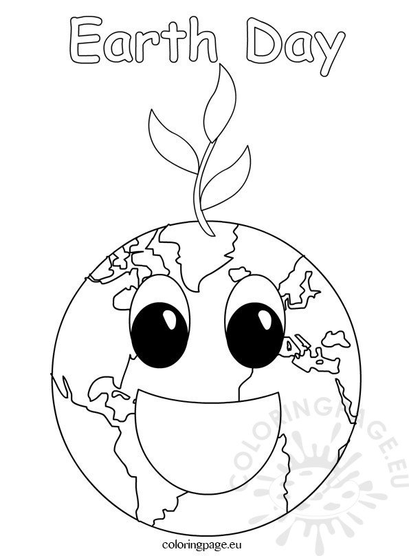 Earth Day 2017 coloring page