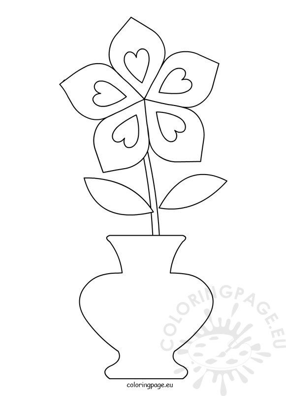 Flower Pot Clipart Black And White