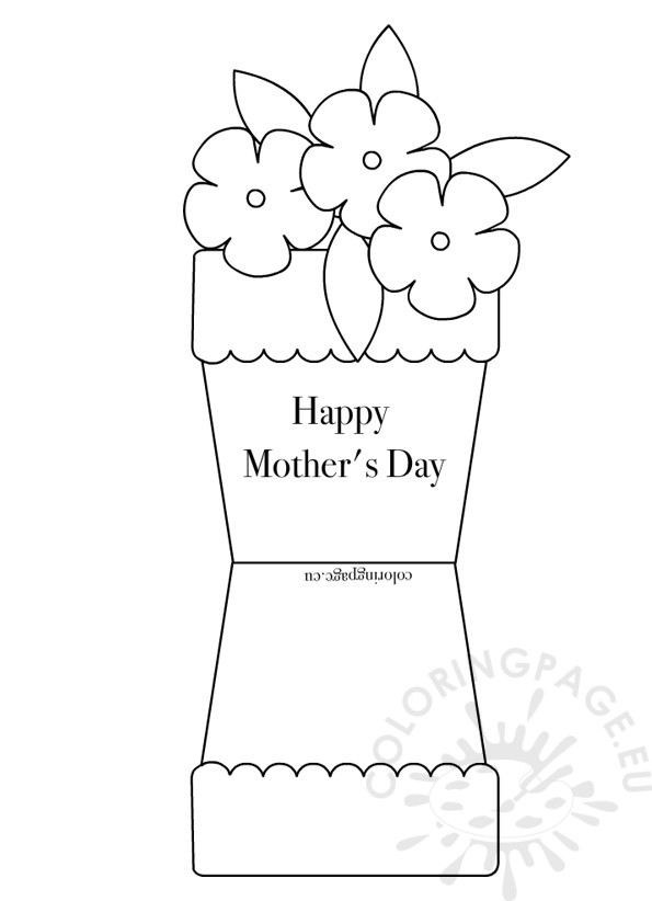 Flower Pot Shape Card
