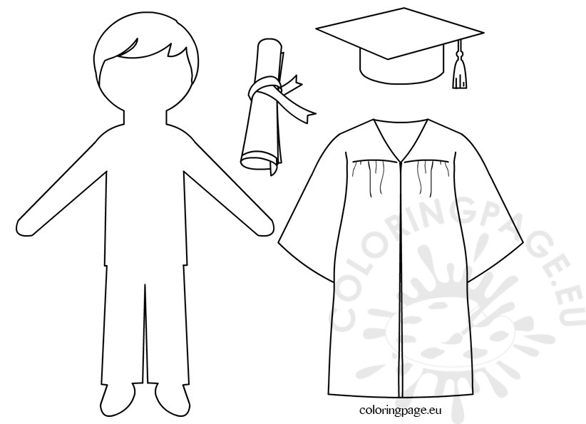 Graduation paper doll pattern