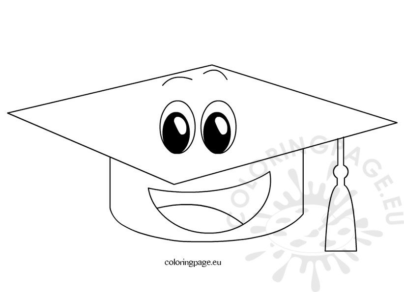 Happy Cartoon Graduation Cap