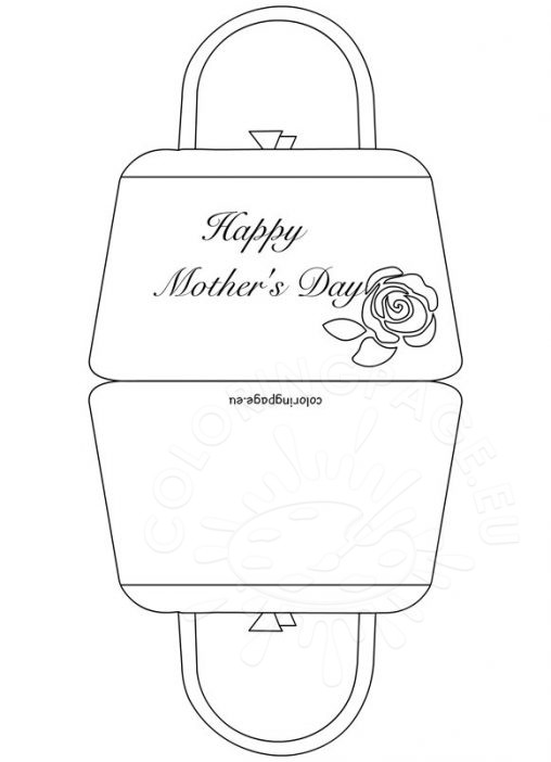 Coloring page for Mothers day card coloring page