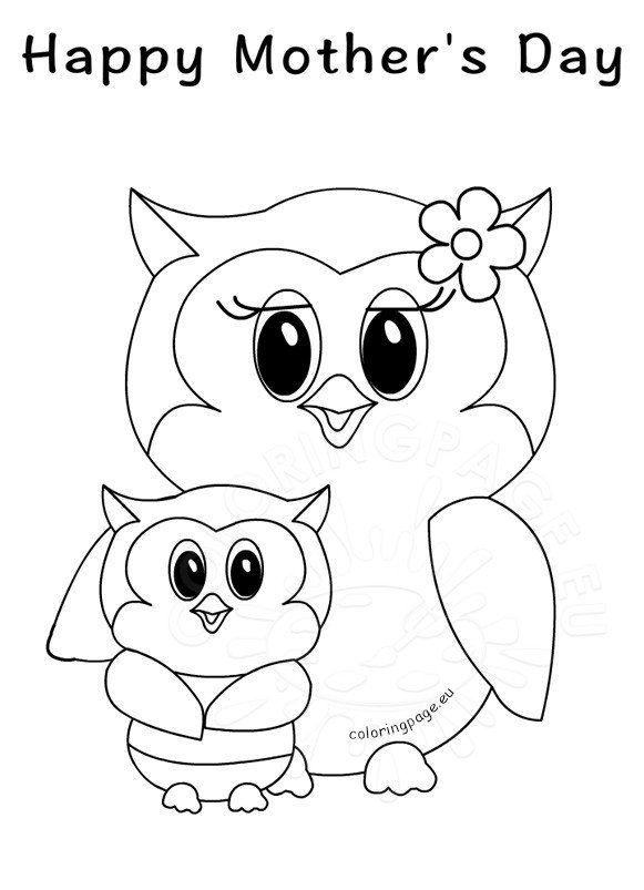 Happy Mother's Day - Owls