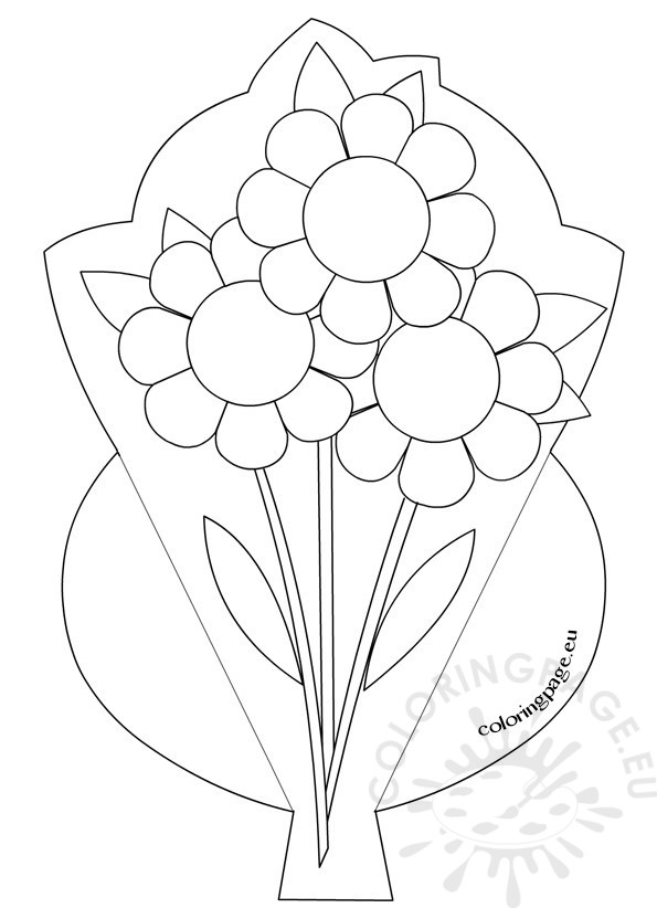 Mother S Day Flower Bouquet Coloring Page