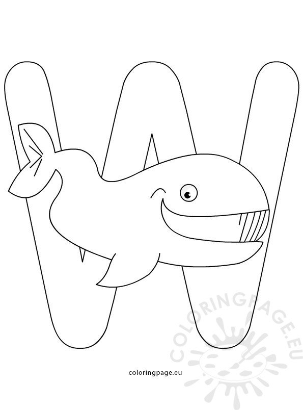 Alphabet coloring page - Letter W