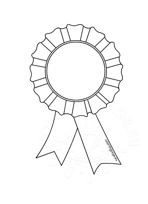 Award Rosette Template on oscar award coloring page