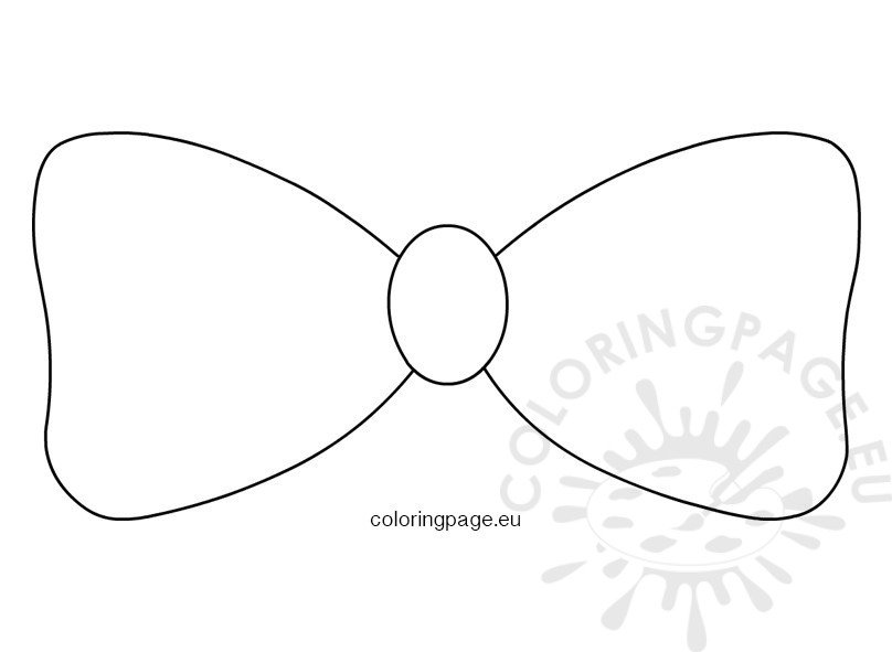 It is a graphic of Printable Bow Tie in coloring page