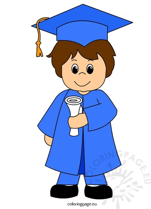 Child graduation clip art