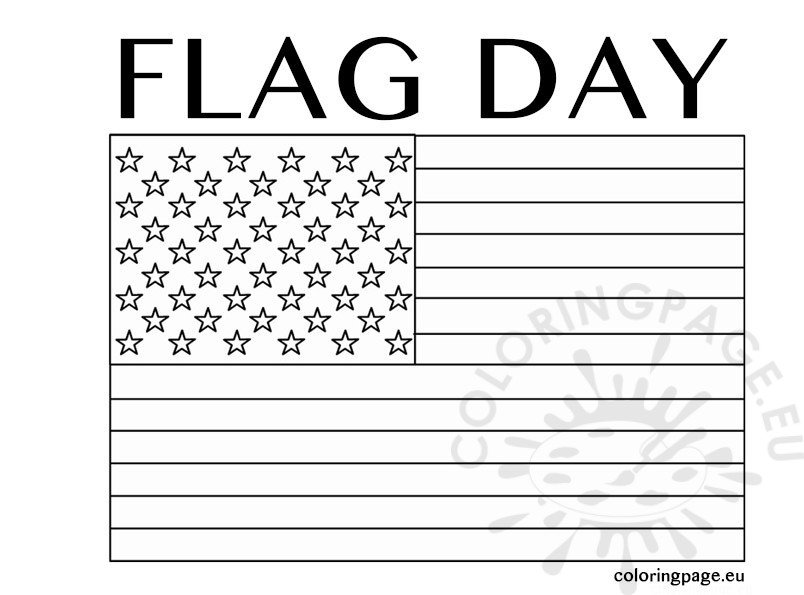 coloring pages for flag day - photo#23