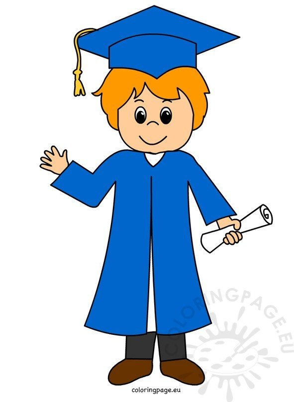 Graduation boy clip art