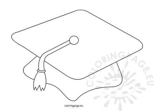 Coloring page for Graduation cap and diploma coloring pages