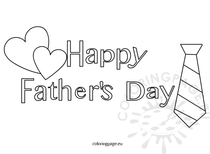 Happy Father\'s Day coloring page for kids | Coloring Page