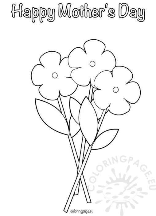 Mother 39 s Day Coloring Page