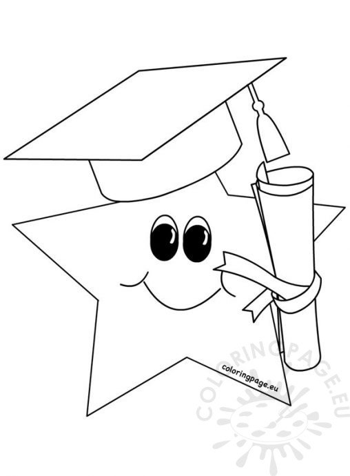 grduation coloring pages - photo#37