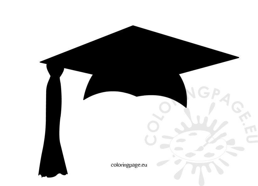 Black graduation cap Coloring Page