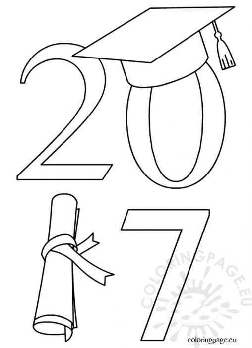 coloring pages for preschool graduation - photo#31