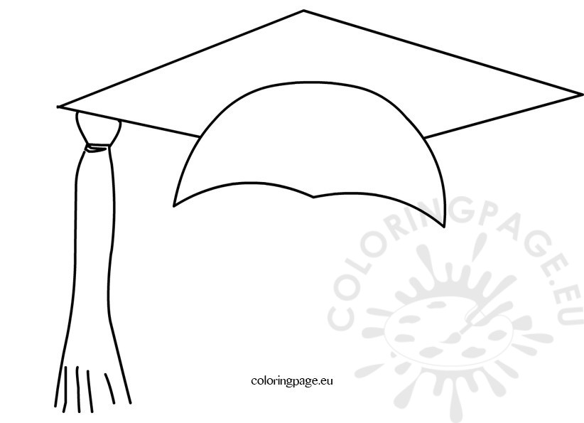 Graduation hat images coloring page for Graduation cap and diploma coloring pages