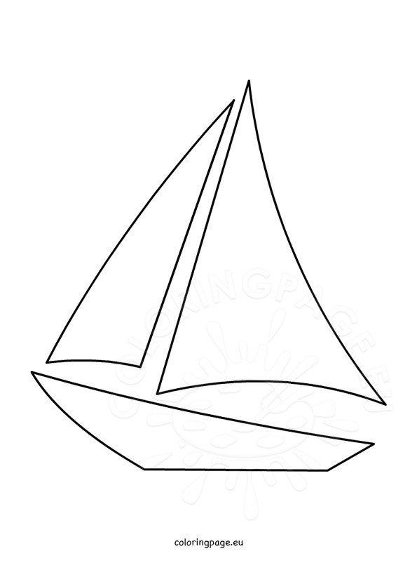 Sailboat Template Printable