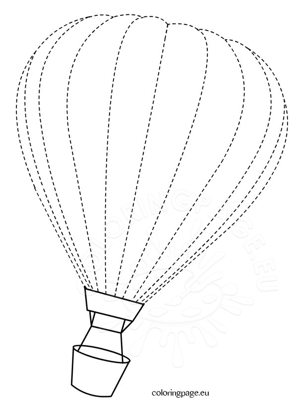 Traceable hot air balloon