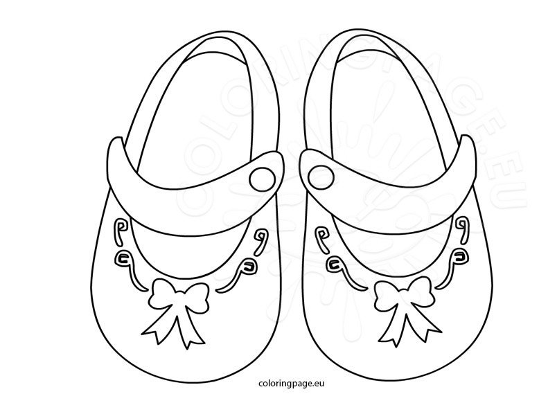 Coloring Pages Of Baby Shoes | Bgcentrum