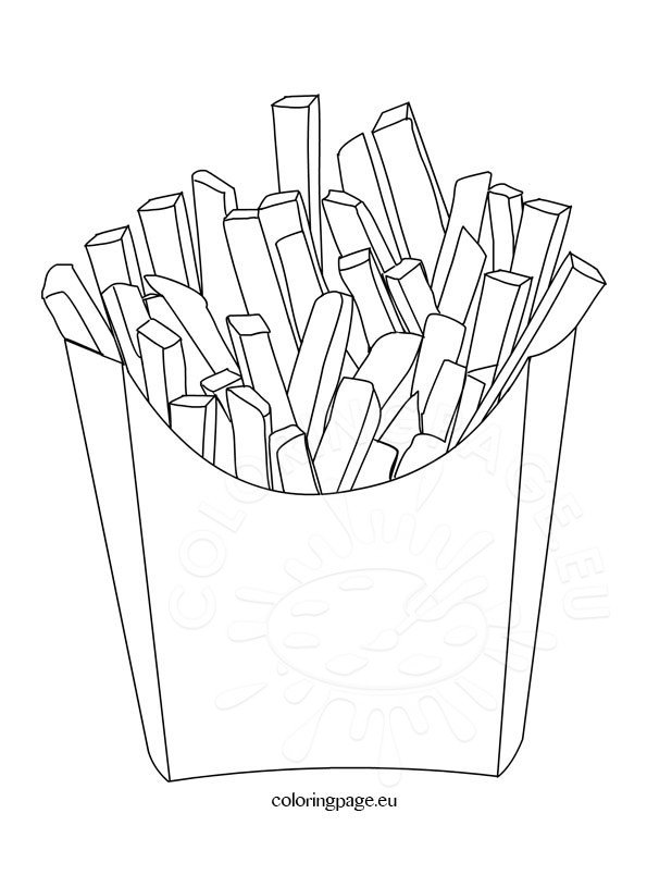 Food Coloring Page Potato Chips Coloring Page