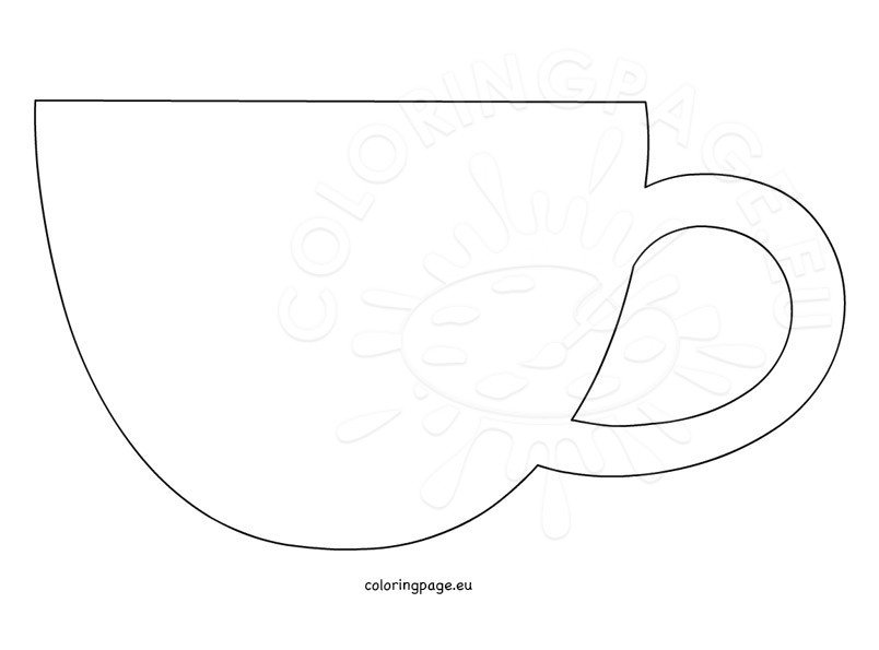 Coffee cup template