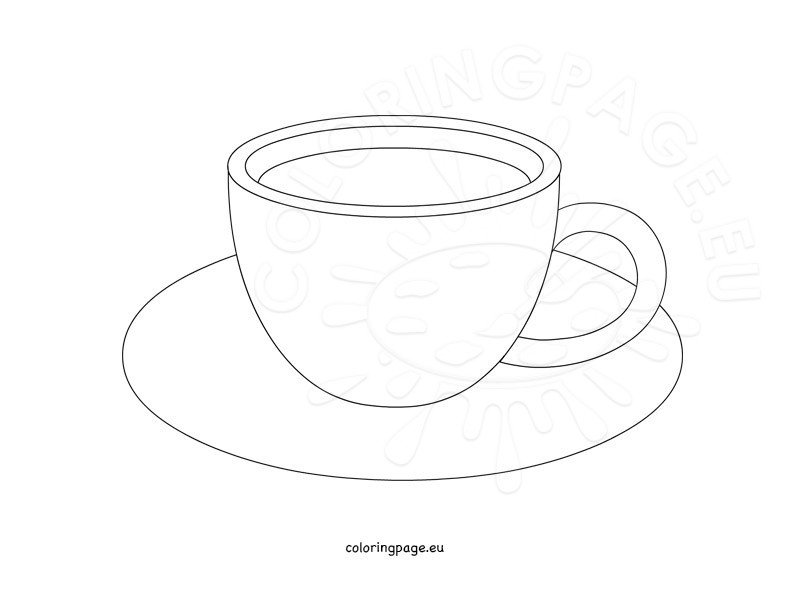 coffee cup design template coloring page