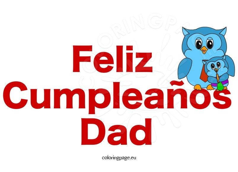 feliz cumpleaos dad clipart - Feliz Cumpleanos Coloring Pages