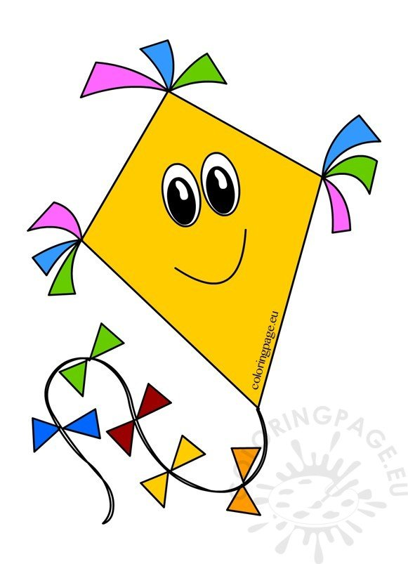 Kite cartoon clipart