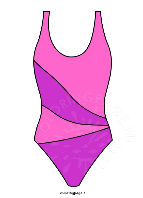 pink one piece swimsuit coloring page rh coloringpage eu girl bathing suit clipart bathing suit clipart